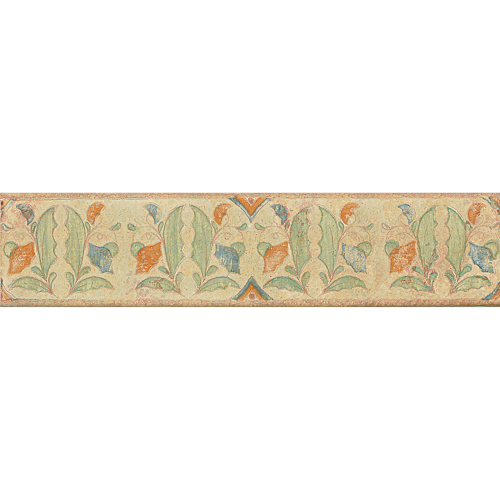 "Cotto Nature 3"" x 14"" Trim in Decos-  Hand  Painted"