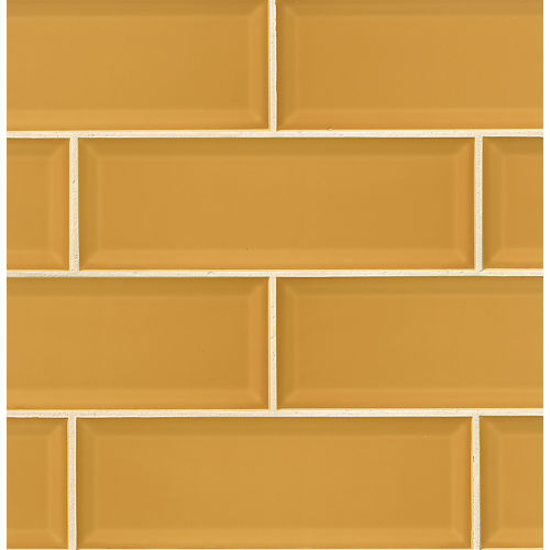 "Adamas 4"" x 12"" x 3/8"" Wall Tile in Flavus"