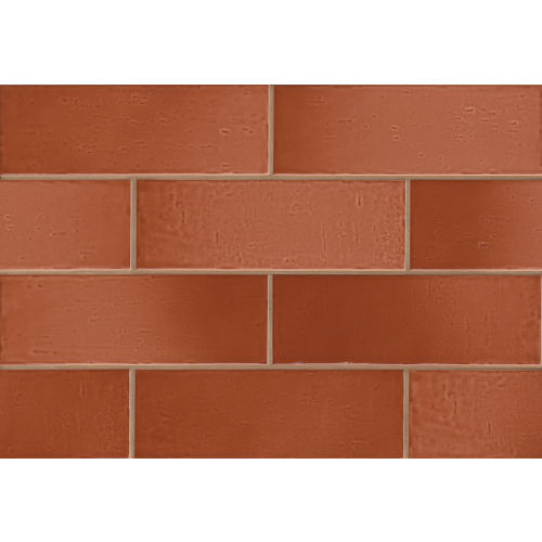 "Aura 4"" x 12"" x 3/8"" Wall Tile in Spice"