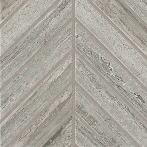 "Classic 2.0 2"" x 2"" Floor and Wall Mosaic in Travertino Grigio"