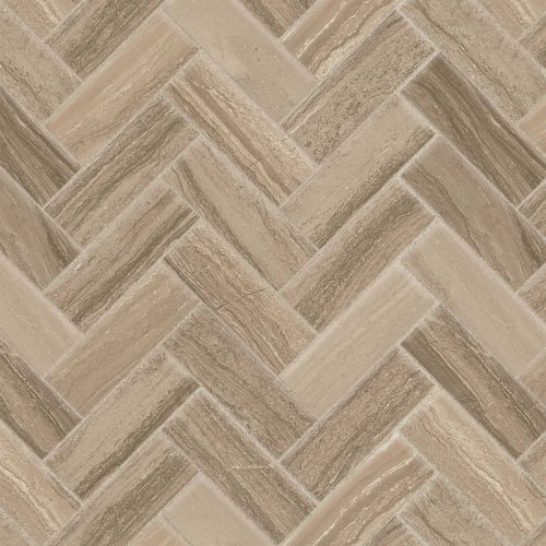 "Highland 2"" x 2"" Floor & Wall Mosaic in Beige"