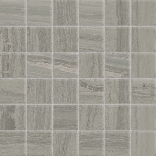 "Highland 2"" x 2"" Floor & Wall Mosaic in Greige"