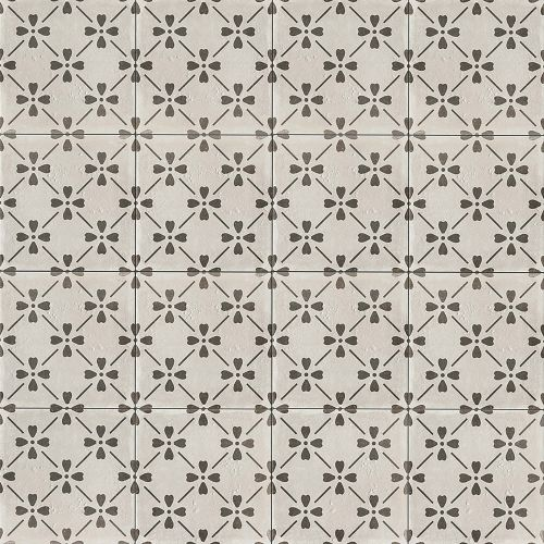 "Palazzo 12"" x 12"" Decorative Tile in Castle Graphite Bloom"