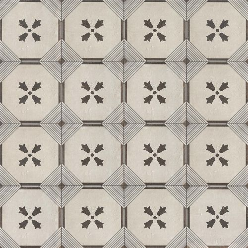 "Palazzo 12"" x 12"" Decorative Tile in Castle Graphite Dynasty"