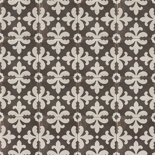 "Palazzo 12"" x 12"" Decorative Tile in Castle Graphite Florentina"
