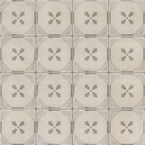 "Palazzo 12"" x 12"" Decorative Tile in Vintage Grey Dynasty"