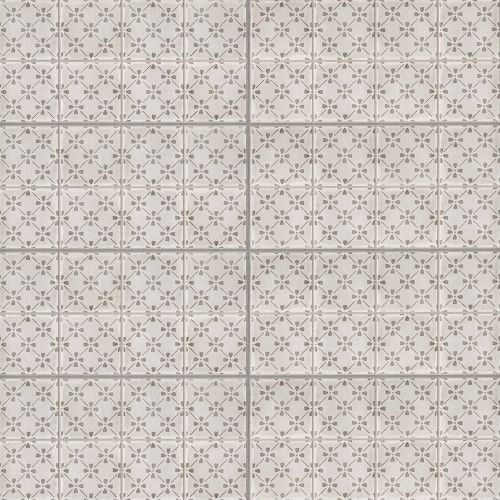"Palazzo 12"" x 24"" Decorative Tile in Vintage Grey Bloom"