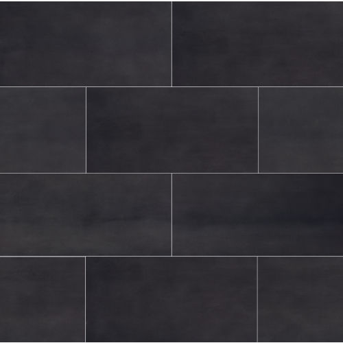 "Plane 15"" x 30"" Floor & Wall Tile in Black"