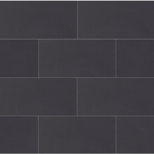 "Plane 15"" x 30"" Floor & Wall Tile in True Black"