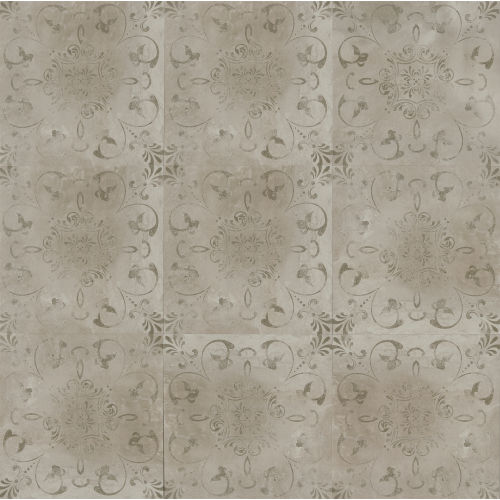 "Cemento 24"" x 24"" Decorative Tile in Titan"