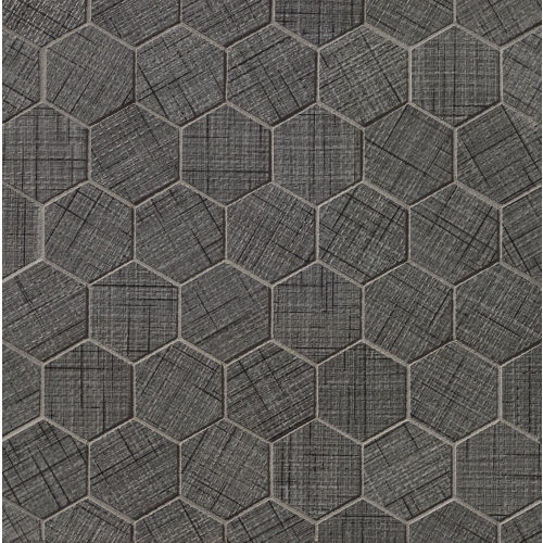 "Lido 2"" x 2"" Floor & Wall Mosaic in Black"