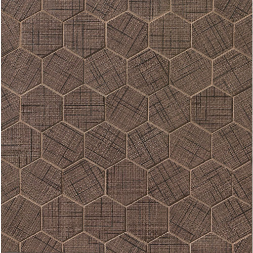 "Lido 2"" x 2"" Floor and Wall Mosaic in Maroon"
