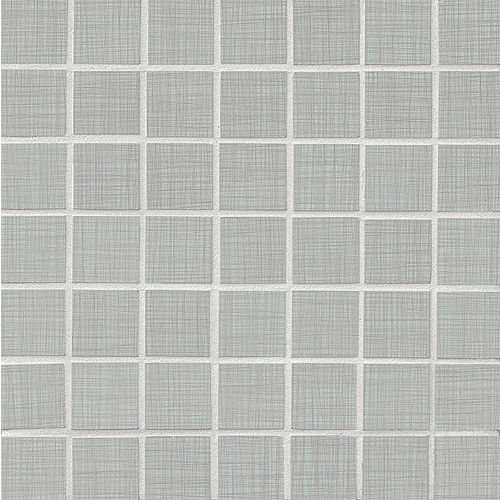 "Linen 1-1/2"" x 1-1/2"" Floor & Wall Mosaic in Zinc"