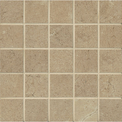 "Marfil 2"" x 2"" Floor & Wall Mosaic in Noce"