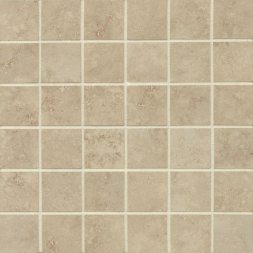 "Roma 2"" x 2"" Floor & Wall Mosaic in Almond"