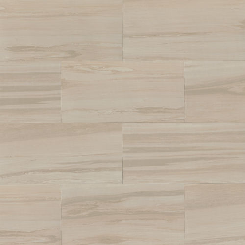"Rose Wood 12"" x 24"" Floor & Wall Tile in Off White"
