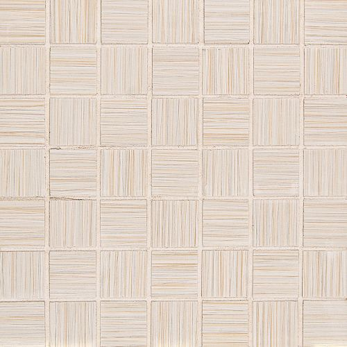 "Runway 1-1/2"" x 1-1/2"" Floor & Wall Mosaic in Alabaster"
