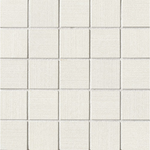 "Strands 2"" x 2"" Floor & Wall Mosaic in White"