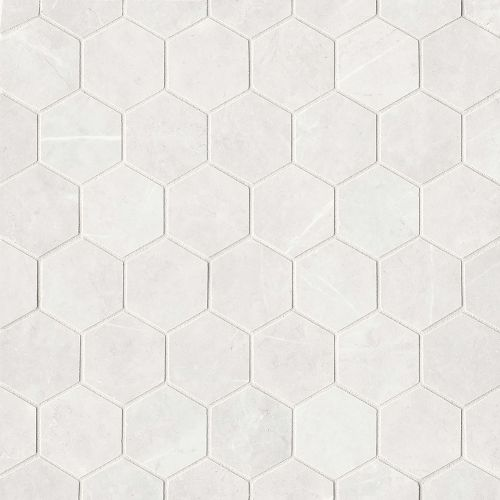 "Troy 2"" x 2"" Floor & Wall Mosaic in White"