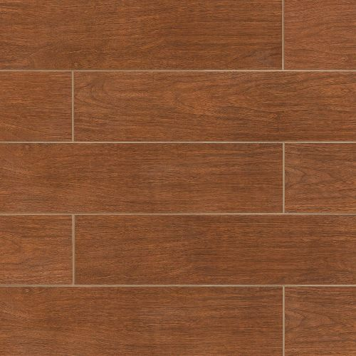 "Heathland Collection 6"" x 24"" Floor & Wall Tile in Cherry"