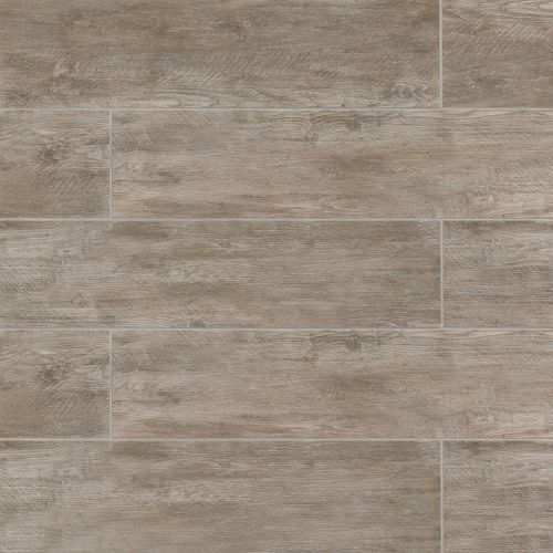 "River Wood 8"" x 36"" Floor & Wall Tile in Taupe"