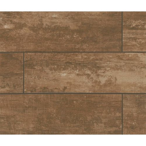 "Vintage 8"" x 36"" Floor & Wall Tile in Walnut"