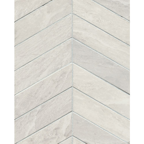 "Yosemite 2"" x 6"" Floor & Wall Mosaic in Silver"