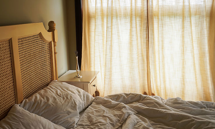 Curtains Closed In Bedroom