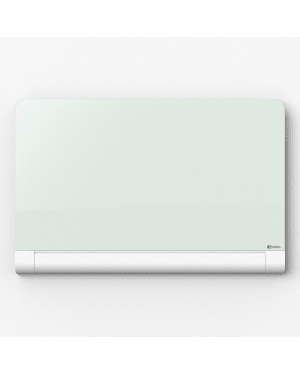 Nobo Diamond Glass Board 1883 x 1059mm White (Rounded Corners)