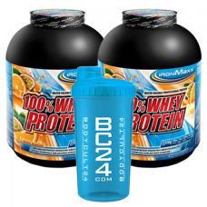 100% Whey Protein 2er Pack + BC Shaker
