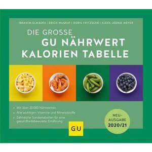 Die Grosse GU Nährwert Kalorien Tabelle