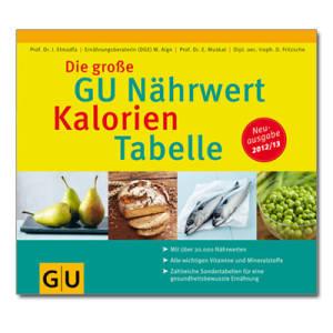 Die Große GU Nährwert Kalorien Tabelle  2012 / 2013
