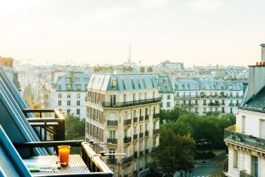 Parfait point de vue sur Tour Eiffel & Sacré Coeur