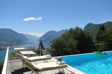 Villa på Comosjön med pool och spektakulär panoramautsikt