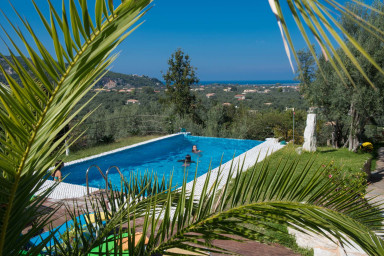 Villa Dioni Nested on Lefkada Town Hill