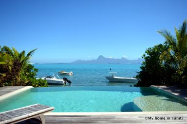 Villa Maere - Tahiti - luxe, piscine au bord du lagon à Punaauia - 3 pers