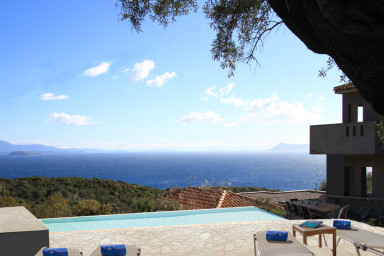 Villa Arkoudi, Dreamy holiday with sea view and cinema room in Sivota