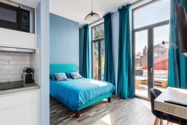 Appartement charmant avec une terrasse - W492