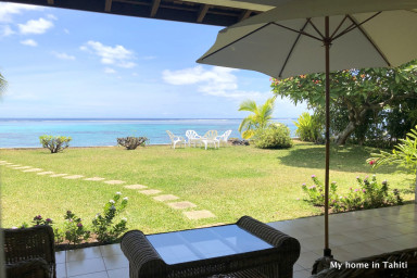 Mitinui cottage - beachfront, lagoon view- Punaauia - Tahiti - 2 pers