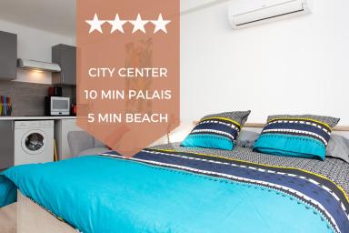 ❤ Hyper centre Cannes ❤ Studio rénové, terrasse, 5min plage, 10min palais !