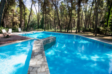 Villa Kallisti in Sani with garden and pool