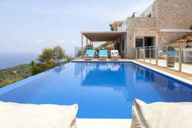 Exquisite Villa on a Hill Surrounding Sivota Bay with Panoramic View