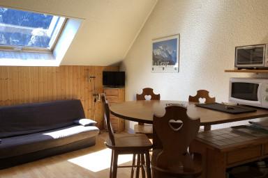 Les Enfetchores, studio cosy, vue sur la Meije à 150m du téléphérique