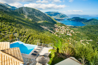 Villa Orama - Immersed in hills over Bay of Vlycho