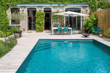 L'Hôtel Particulier Maison bourgeoise design et vintage avec piscine