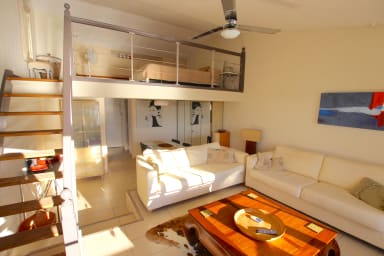 Renovated apartment with a mezzanine close to the beach
