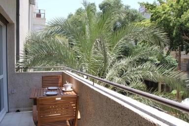 Hilton beach -2 bedrooms-balcony-modern- BenYehuda 204