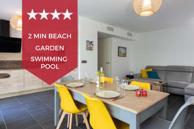 KIKILOUE ☀️ CANNES 2 BEDROOM WITH GARDEN ☀️ In the heart of Palm Beach