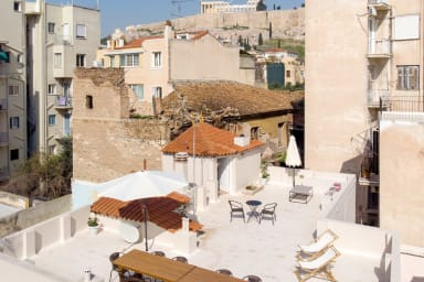 View of Acropolis from the private roof terrace