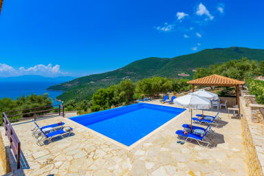 Villa Andromeda - Infinity Pool with View of Ionian Sea